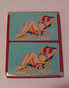 Al Moore pin up double deck playing cards (Image1)
