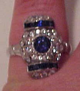 Art Deco ring with rhinestones (Image1)