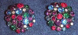 multi colored rhinestone earrings (Image1)