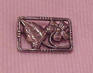 Sterling silver floral pin (Image1)