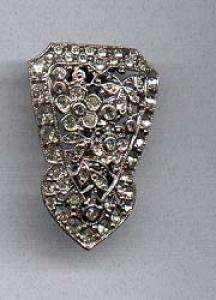 Art deco rhinestone clip (Image1)