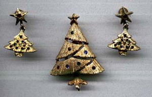 Mylu Christmas tree pin and earrings (Image1)