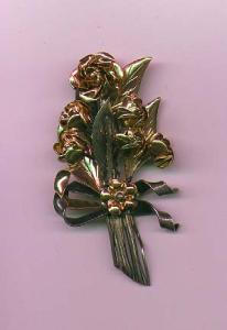 Hobe sterling two tone floral bouquet pin (Image1)