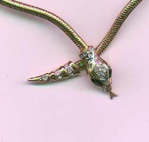 Corocraft snake necklace with rhinestones (Image1)