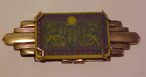 Czechoslovakian Egyptian revival pin (Image1)