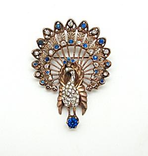 Sterling Vermeil Peacock Pin (Image1)