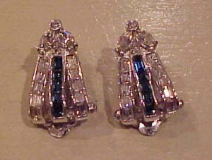 Pennino retro rhinestone earrings (Image1)