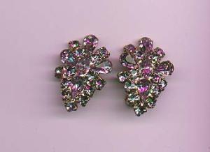 Lavender rhinestone earrings (Image1)