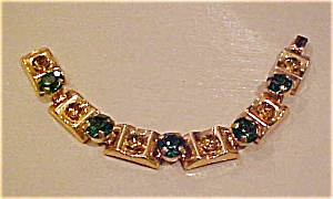 Green and Yellow rhinestone bracelet (Image1)