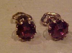 1920's scerwstyle pierced earrings (Image1)