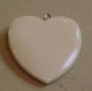 Ivory heart charm pendant (Image1)