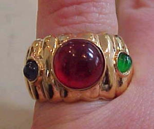 Gold filled ring with cabochons (Image1)