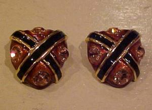 Blanca enamel and rhinestone earrings (Image1)