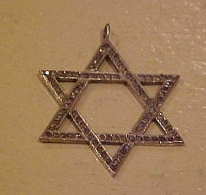 Sterling silver marcasite Jewish Star Charm (Image1)