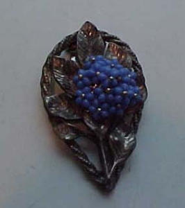Czechoslovakian dress clip flower design (Image1)