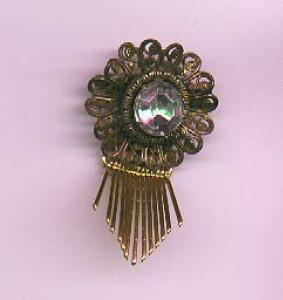 Lisner Czechoslovakian revival pin (Image1)