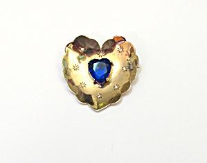 1940s Vermeil Heart Brooch (Image1)