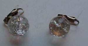 Crackle glass earrings (Image1)