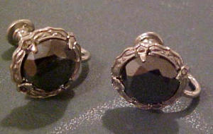 Sterling earrings with grey rhinestones (Image1)