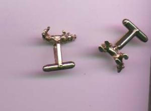 Sterling vermeil bull and bear stock market cufflinks (Image1)