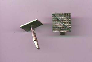 Sterling cuff links with graph/chart design (Image1)