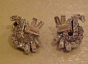 Claudette Rhinestone earrings retro style (Image1)