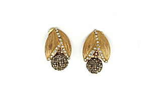 Goldtone Metal Cocktail Earrings (Image1)