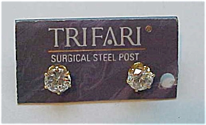 trifari cubic zirconia earrings (Image1)