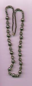 Necklace made from Metal beads, rhinestone rhondelles and rhinestone spacers (Image1)