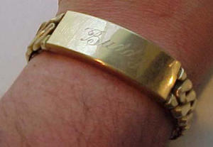 Spiedel ID bracelet engraved BUDDY w/picture (Image1)