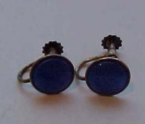 Sterling and enamel earrings (Image1)
