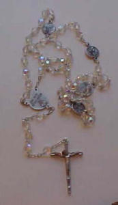 Rosary w/crystal beads Our lady of the snows (Image1)