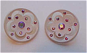 2 buttons with aurora borealis rhinestones (Image1)