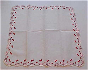 Handkerchief wih hearts and flowers (Image1)