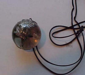 Victorian glass ball pendant with silver (Image1)