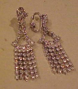 Dangling rhinestone earrings (Image1)