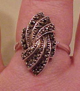 Sterling marcasite ring (Image1)