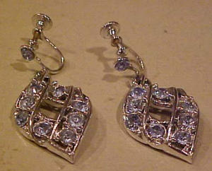 light blue rhinestone earrings (Image1)