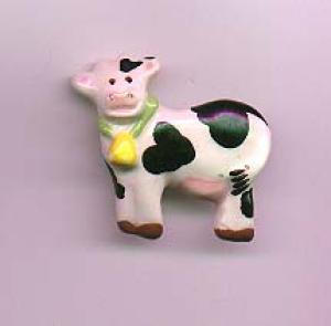 Flying Colors ceramic cow pin (Image1)