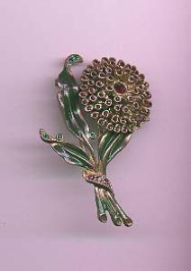 Rhinestone and enamel flower pin (Image1)