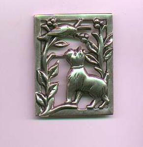 Sterling Silver Norseland by Coro dog and bird pin (Image1)