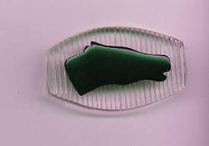 Carved lucite and bakelite horse pin (Image1)