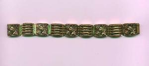 Czechoslovakian revival brass bracelet (Image1)