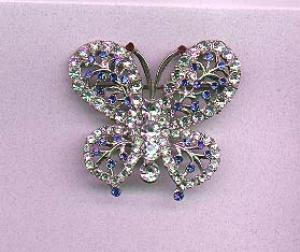 Rhinestone and pot metal butterfly pin (Image1)
