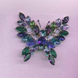 KJL rhinestone butterfly pin (Image1)