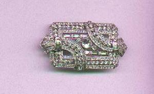 TKF rhinestone art deco style pin (Image1)