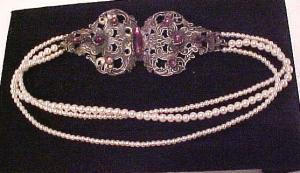 Choker made from art nouveau buckle (Image1)