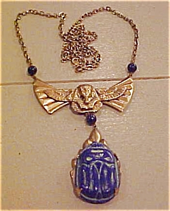 Czechoslovakian egyptian revival necklace (Image1)