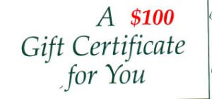$100 Gift Certificate (Image1)