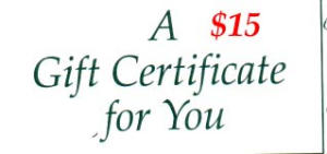 $15 Gift Certificate (Image1)